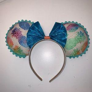 Pineapple Dole Whip Mickey Ears